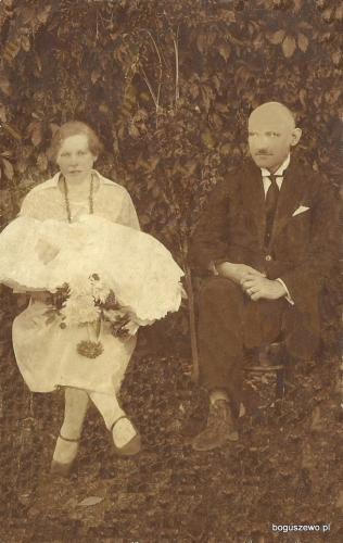 G 1926 r Radzyń Chełmiński - Alojzy Firyn jako Ojciec Chrzestny Eugenii Brochockiej Matką Chrzestną jest Stanisława Rybińska