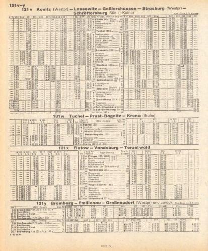 rozkład jazdy 1941