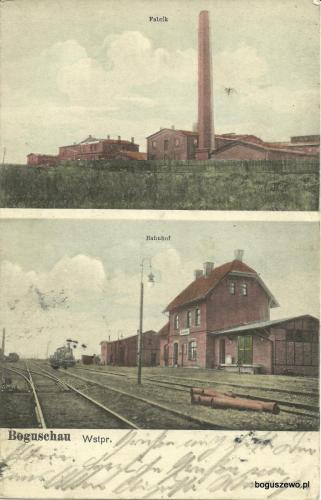 1912r. Pocztówka - fabryka dworzec