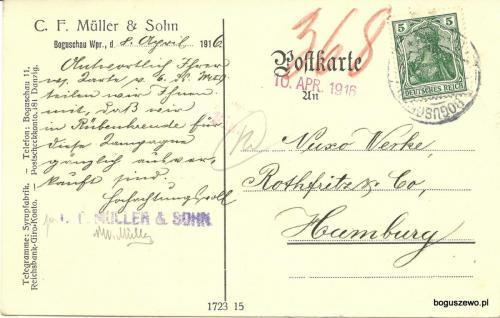 1916r. Kartka