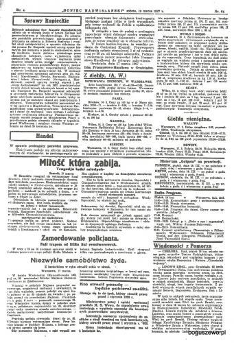 01-1927r. Cała strona Goniec Nadwiślański - Kościół Linowo