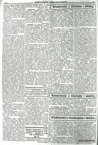 03-1925r. Cała strona Słowo Pomorskie - Boguszewo zabawa karnawałowa
