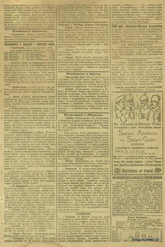 07-1916r. Cała strona Gazeta Grudziądzka - Wypadek w Boguszewie