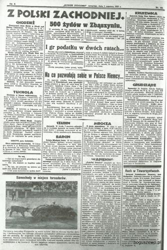 09-1933r. Cała strona Kurjer Bydgoski - Aresztowanie koniokradów