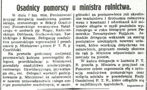 12-1934r. Wycinek Kurjer Bydgoski - Osadnicy pomorscy