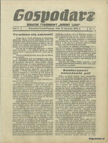 15-1934r. 18 stycznia Cała strona Gospodarz - W Boguszewie