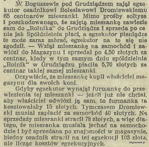 16-1934r. 18 stycznia Wycinek Gospodarz - W Boguszewie