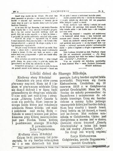 17-1929r. Cała strona Pochodnia - List do Mikołaja z Gołębiewka