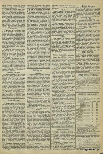 1909r. Cała strona Gazeta Toruńska Kolonizacja Boguszewa