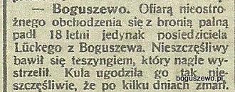 20-1915r. Wycinek Gazeta Totuńska - Wypadek