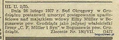 24-1937r. Wycinek Gazeta Gdańska - Fabryka