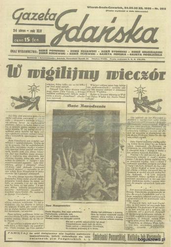 34-1935r a Cała strona Gazeta Gdańska - Wydanie świąteczne
