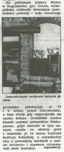 37-1993r. Wycinek Promocje pomorskie - Grodzisko w Boguszewie