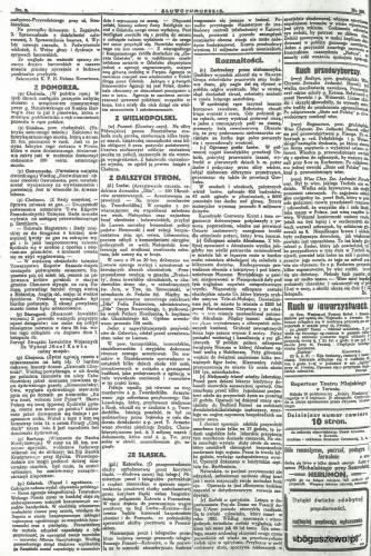 38-1922r. Cała strona Słowo Pomorskie - Ruch przedwyborczy