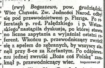 39-1922r. Wycinek Słowo Pomorskie - Ruch przedwyborczy