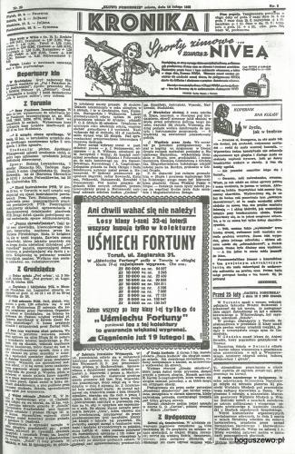 42-1935r. Cała strona Słowo Pomorskie - St. Zientarski ze Słupa