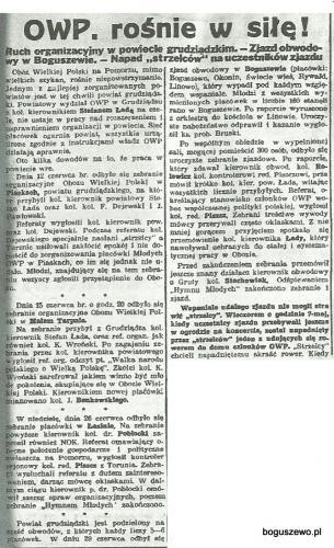 45-1932r. Wycinek Słowo Pomorskie - OWP w Boguszewie