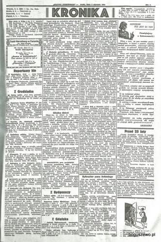 46-1934r. b. Cała strona Słowo Pomorskie - Wieczór gwiazdkowy