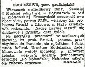 47-1934r. c. Wycinek Słowo Pomorskie - Wieczór gwiazdkowy
