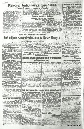 48-1934r. Cała strona Słowo Pomorskie - Wydarzenia