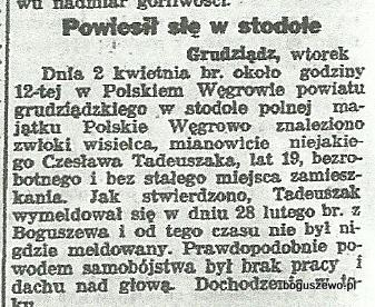 49-1934r. da. Wycinek Słowo Pomorskie - Wydarzenia