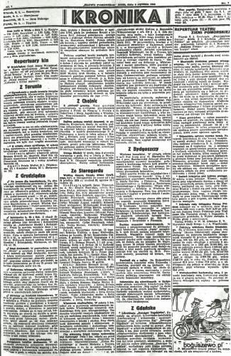 53-1935r. 5 stycznia Cała strona Słowo Pomorskie -  Pożegnanie proboszcza