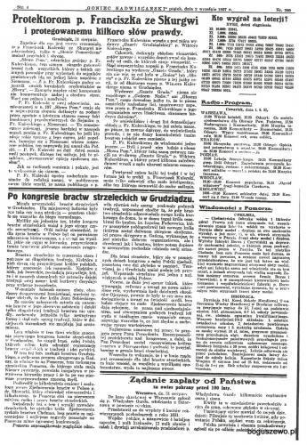 60-1927r. 2 września Goniec Nadwiślański - Kongres bractw strzeleckich
