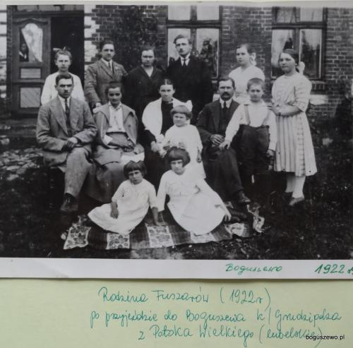 1922r. Jedni z pierwszych osadników